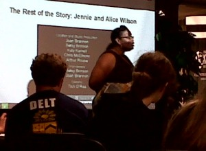 LeDatta Grimes, AASRP graduate student, facilitated the Sisters in the Struggle Dialogues on Race, September 16, 2010