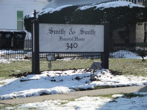 Smith and Smith Funeral Home, sign
