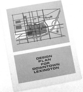 Cover for Design Plan for Downtown Lexington, 1965