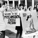 A protester at the Miss. America Pageant.