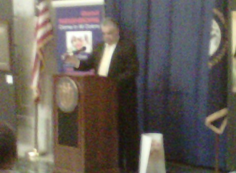 John Johnson speaking about the fair housing proclamation