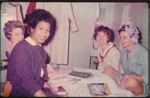 Angela Townsend, UK dorm room with hall mates