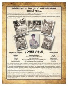 Poster regarding Jonesville replaced by WKU's Diddle Arena
